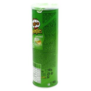 Pringles, 165г, Чипси картопляні, Sour cream & onion, тубус