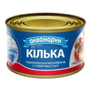 Аквамарин, 230 г, килька в томатном соусе, черноморская, неразборная
