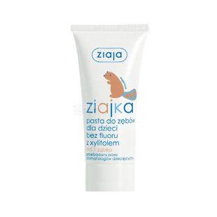 Ziaja, 50 мл, зубная паста, детская, с ксилитом