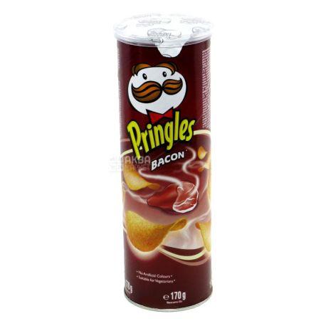 Pringles, 165г, Чипси картопляні, Bacon, тубус