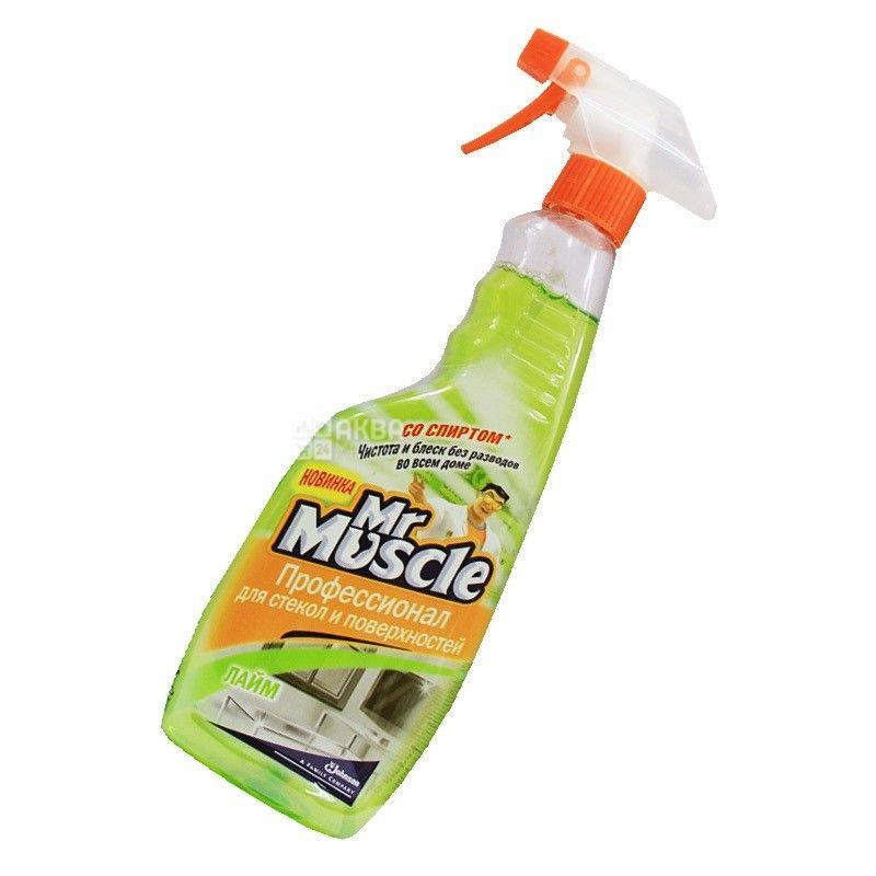 Mr. Muscle, Засіб для миття скла, Лайм, 500 мл