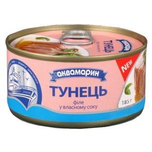 Aquamarine, 185 g, tuna, fillet in its own juice
