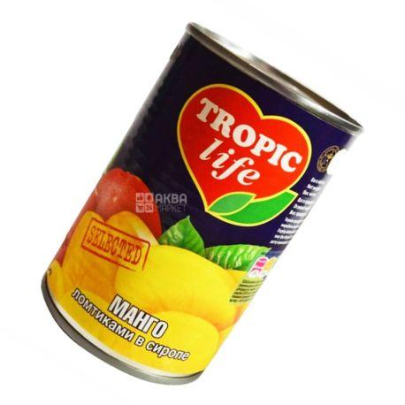Tropic Life, 425 мл, манго, скибочки в сиропі