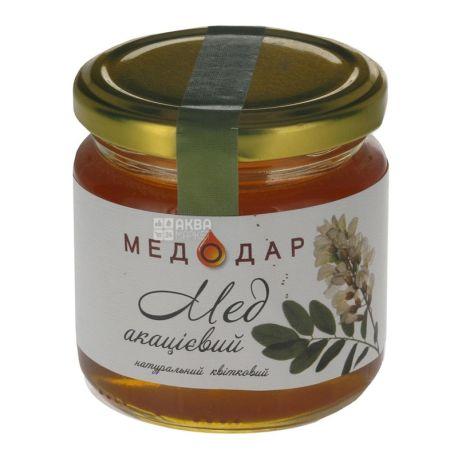 Медодар, 250 г, мед, акациевый, стекло