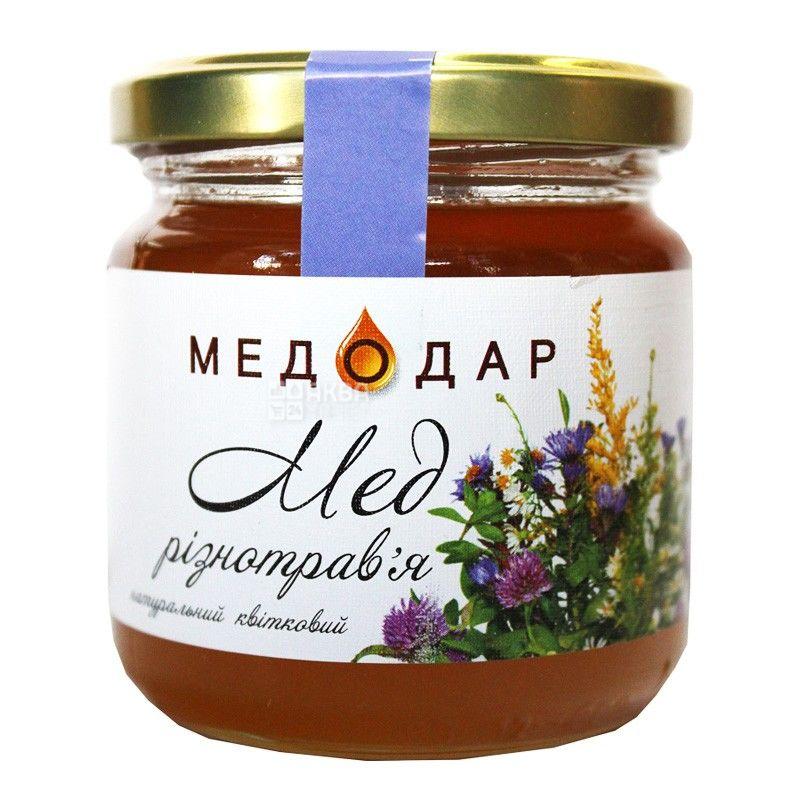 Медодар, 250 г, мед, разнотравье, цветочный, стекло