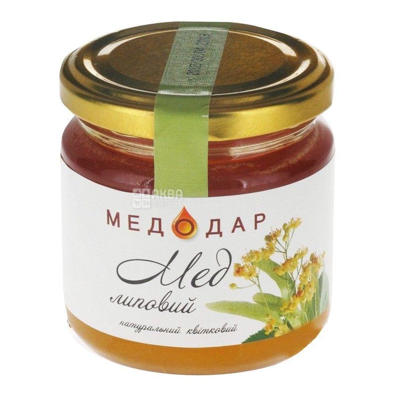 Медодар, 250 г, мед, липовый, стекло