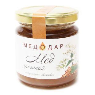 Медодар, 250 г, мед, гречаний, скло