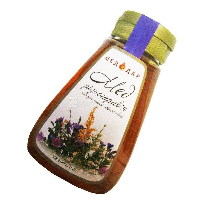Медодар, 250 г, мед, різнотрав'я, квітковий, пэт
