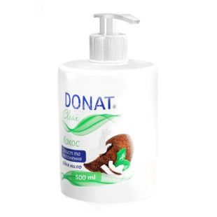 Donat, 0.5 L, Liquid Soap, Coconut