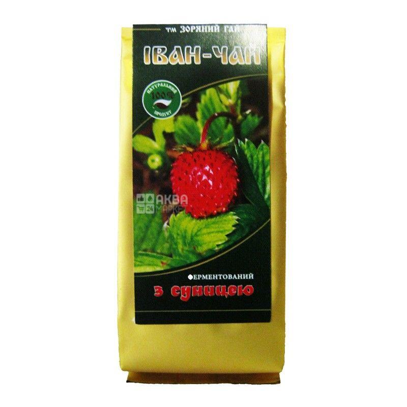 Зоряний гай, Іван-чай з суницею, 50 г, Чай, трав'яний, зі шматочками фруктів, ферментований