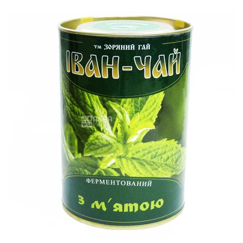 Зоряний гай, Иван-чай, с мятой, 100 г, Чай травяной, ферментированный, ж/б