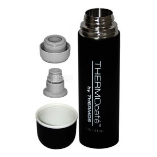 Thermos, 1 L, thermos, Thermocafe, QS1904, Black, m / s