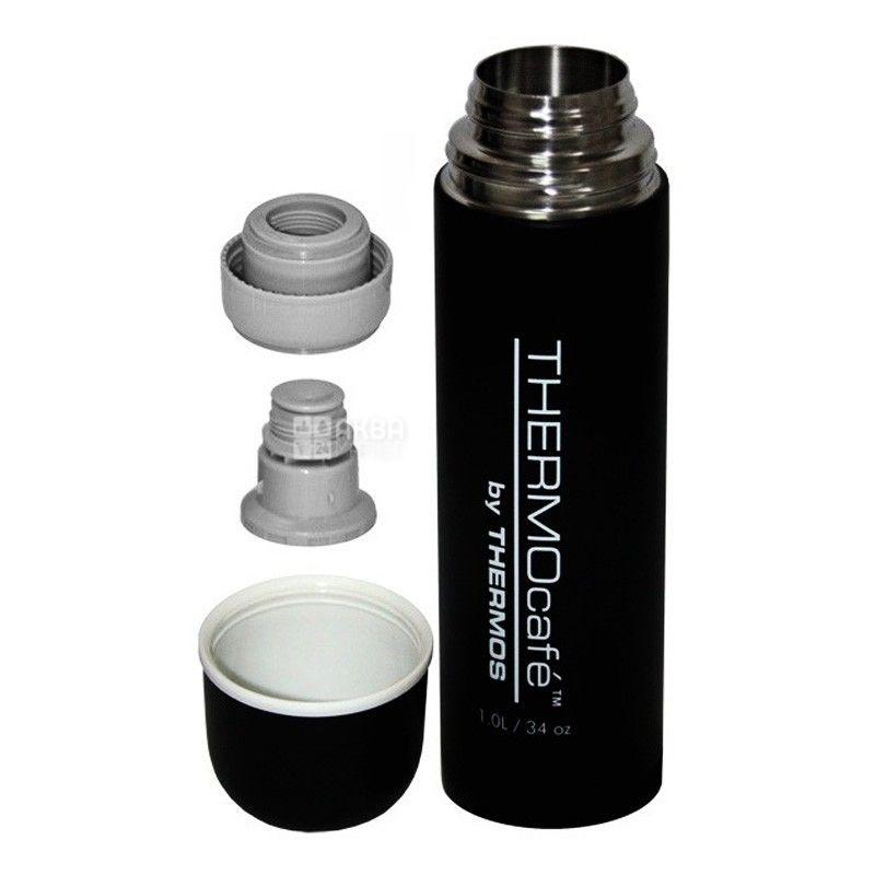 Thermos, 1 л, термос, Thermocafe, QS1904, Черный, м/у