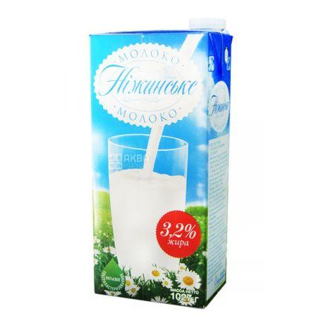 Ніжинське, 1 л, 3,2%, Молоко, ультрапастеризоване
