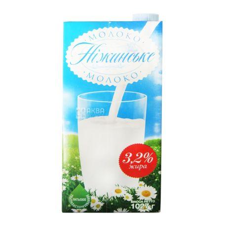 Ніжинське, 1 л, молоко, ультрапастеризованное, 3,2%