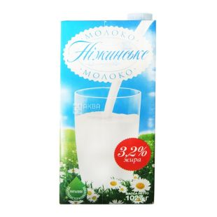 Nizhynskaya, 1 l, 3,2%, Milk, Ultrapasteurized