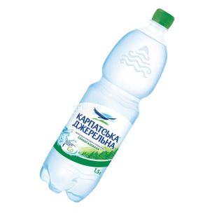 Карпатська Джерельна, 1,5 л, Вода слабогазована, Мінеральна, ПЕТ