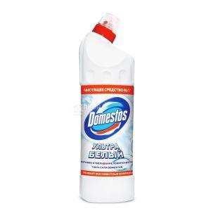 Domestos, Средство для чистки унитаза, Ультра белый, 1 л