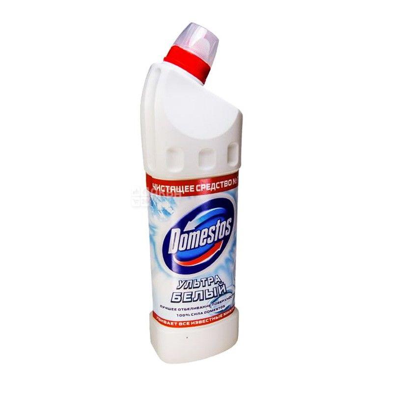 Domestos, 1 л, средство для чистки унитаза, Ультра белый, ПЭТ