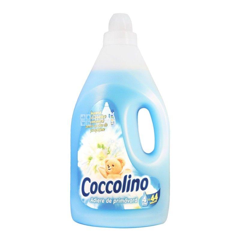 Coccolino, 4 л, кондиционер-ополаскиватель, Весенний воздух, ПЭТ
