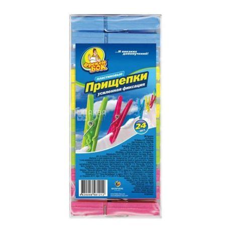 Фрекен Бок, 24 шт., прищіпки пластикові, м/у