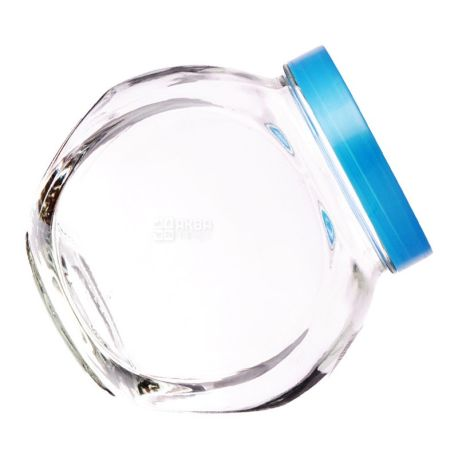 Everglass, 1, 73 л, банка, з кришкою, кругла, скло