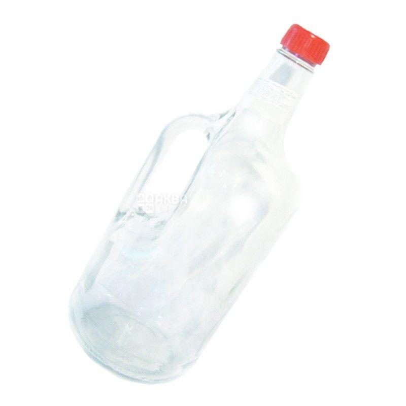 Everglass, 1,75 л, бутылка с ручкой, С крышкой, стекло