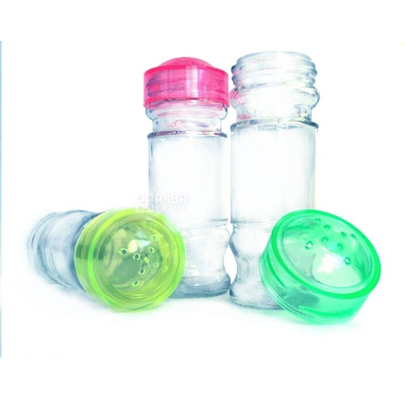 Everglass, 80 g, spice jar, With a lid, glass
