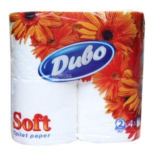Диво Soft, Туалетная бумага двухслойная, 4 рулона