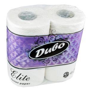 Диво Elit, 4 рул., Туалетная бумага, Элит, 3-х слойная