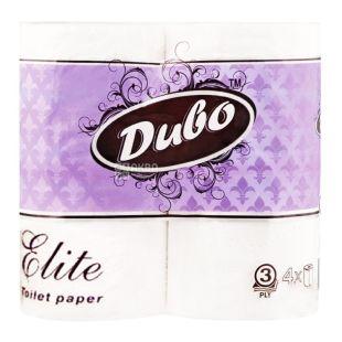 Диво Elite, 4 рулони, туалетний папір, 3-х шарова