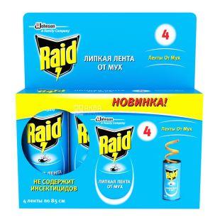 Raid, 4 шт., клейка стрічка від мух
