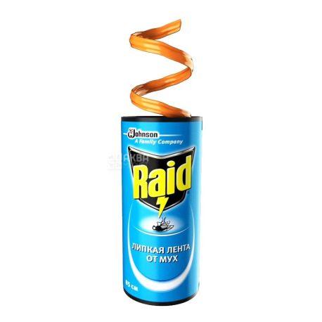 Raid, 4 шт., липкая лента от мух