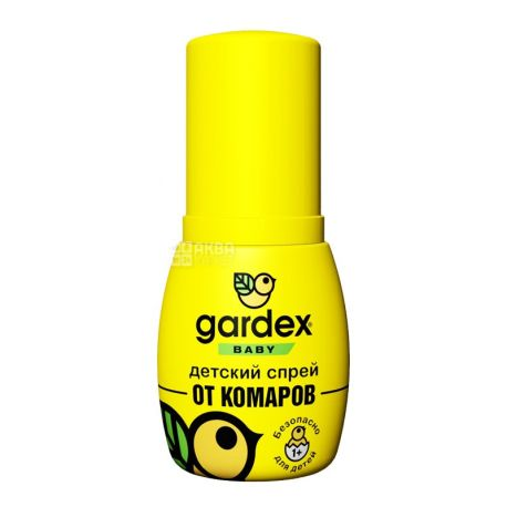 Gardex, 50 мл, Детский спрей от комаров, от 1 года
