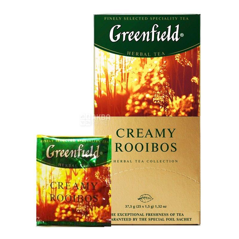 Greenfield, Cremy Rooibos, 25 пак., Чай Грінфілд, Ройбуш з вершками, трав'яний