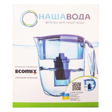 Наша Вода, 3,5 л, фільтр для води, Luna, глечик