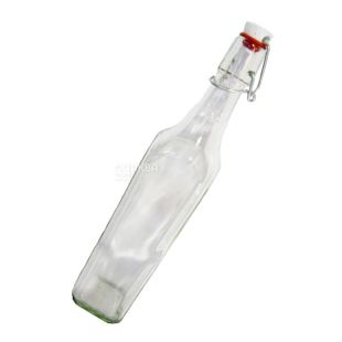Бутылка с бугельной пробкой, 0,5 л, стекло