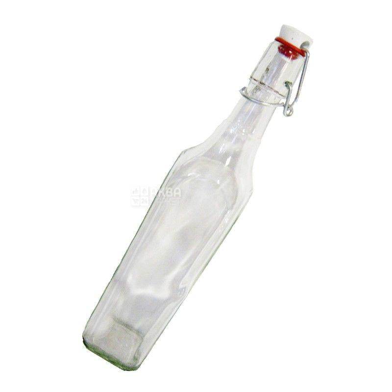 Пляшка з бугельною пробкою, 0,5 л, скло