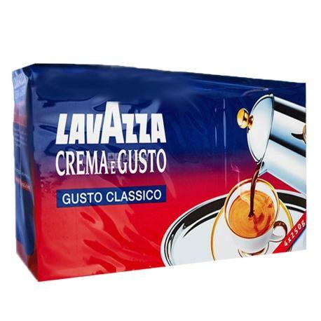 Lavazza, Crema Gusto Classico, 1 кг (4 шт. х 250 г), Кофе Лавацца, Крема Густо Классико, средней обжарки, молотый