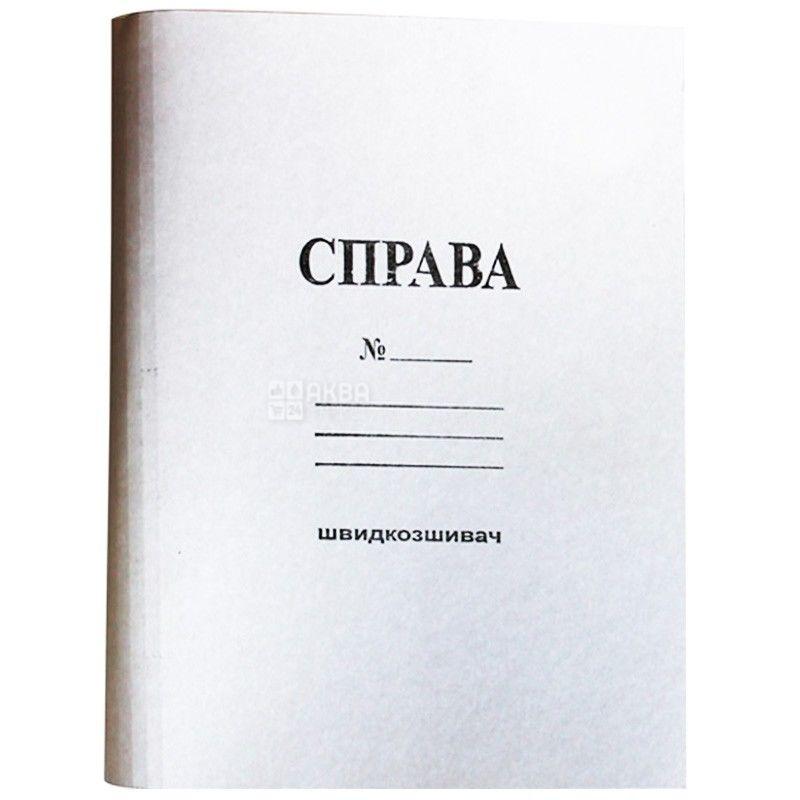 Папка-скоросшиватель, Картонная, А4