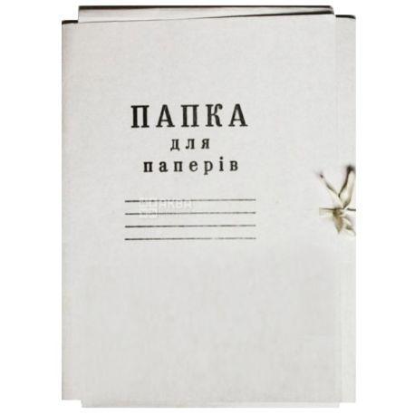 Папка картонна, Для паперів, На зав'язках, А4, м/у