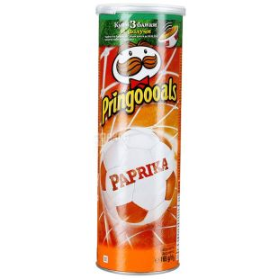 Pringles, 165 g, potato chips, Paprika, tube
