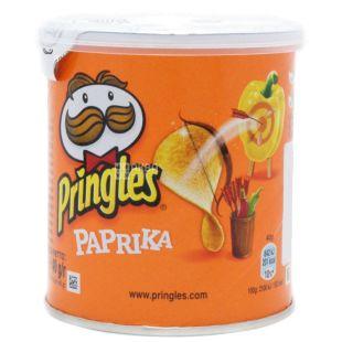 Pringles, 40 г, Чипси картопляні, Paprika, тубус