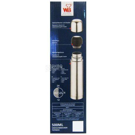 Wellberg, 0,5 л, термос, WB 9905