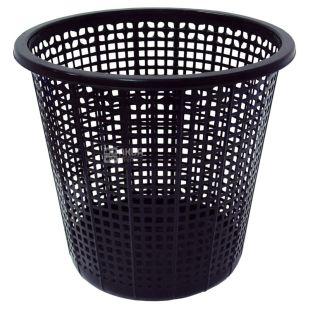 Урна для мусора, 8,8 л, Пластиковая, Черная