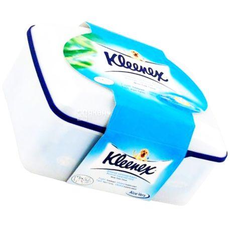 Kleenex, 42 аркуші, Туалетний папір Клінекс, Вологий, в коробці