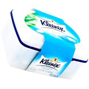 Kleenex, 42 листа, влажная туалетная бумага, туба