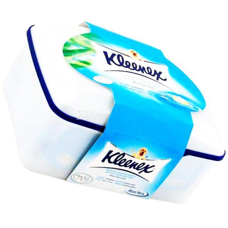 Kleenex, 42 листа, Туалетная бумага Клинекс, Влажная, в коробке