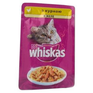 Whiskas, 100 g, food, for cats, with chicken in jelly