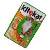 Kitekat, 100 г, корм, для котів, з куркою в соусі